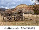 Old Wooden Wagon Stands Before...