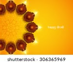 yellow color background design... | Shutterstock .eps vector #306365969