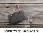 black board of slate on old... | Shutterstock . vector #306366170