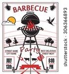 design of invitation card on... | Shutterstock .eps vector #306366893