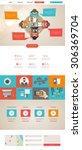 vector flat website template...
