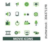 movie  media  cinema icons ... | Shutterstock .eps vector #306371198