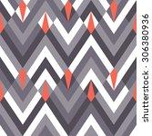 seamless geometric chevron... | Shutterstock .eps vector #306380936