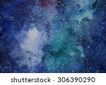 Space Hand Painted Watercolor...