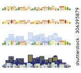 cityscape illustrations | Shutterstock .eps vector #306395879