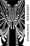 fractal geometric print free...   Shutterstock .eps vector #306402863