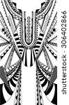 fractal geometric print free... | Shutterstock .eps vector #306402866
