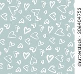 seamless pattern with hearts.... | Shutterstock .eps vector #306404753