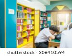 library blur background with...   Shutterstock . vector #306410594