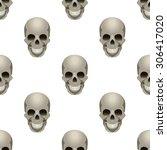 seamless pattern with skull | Shutterstock .eps vector #306417020