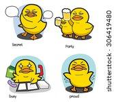 duck cartoon vector set 3 | Shutterstock .eps vector #306419480
