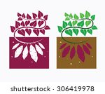 sweet potato plant with leaves...   Shutterstock .eps vector #306419978