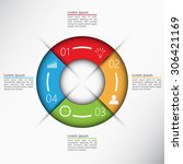 colorful circle with 4 options... | Shutterstock .eps vector #306421169