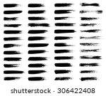 vector set of grunge brush... | Shutterstock .eps vector #306422408