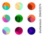 colorful ball vector logo set... | Shutterstock .eps vector #306423374