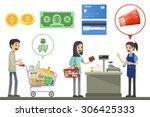 people are shopping in... | Shutterstock .eps vector #306425333
