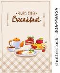 breakfast poster with egg ...   Shutterstock .eps vector #306446939