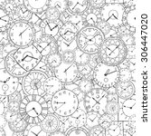 vector doodle clock  simple... | Shutterstock .eps vector #306447020