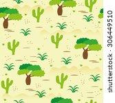 african savanna landscape...   Shutterstock .eps vector #306449510