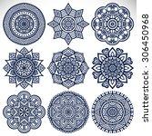 mandalas. vintage decorative... | Shutterstock .eps vector #306450968