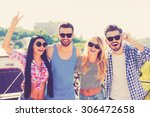 having fun with friends. group... | Shutterstock . vector #306472658