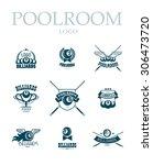 collection of billiard logo.... | Shutterstock . vector #306473720