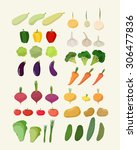 set of fresh vegetables.... | Shutterstock . vector #306477836