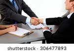 business meeting at the table... | Shutterstock . vector #306477893