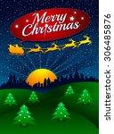 christmas night   Shutterstock .eps vector #306485876