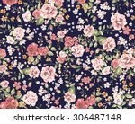 Stock vector vintage floral pattern 306487148