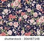 vintage floral pattern  | Shutterstock .eps vector #306487148
