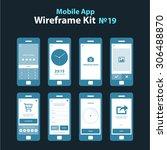 mobile app wireframe ui kit 19. ...