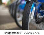 abstracted row of parked... | Shutterstock . vector #306493778