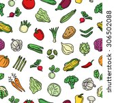 vegetables seamless pattern ... | Shutterstock .eps vector #306502088