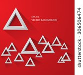 white abstract triangle on a...