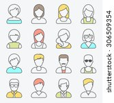 people userpics icons in line... | Shutterstock .eps vector #306509354