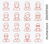 people userpics icons in line... | Shutterstock .eps vector #306509360