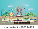 vector illustration of... | Shutterstock .eps vector #306514424