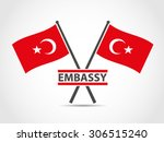 turkey cross flags emblem...