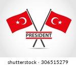 turkey cross flags emblem... | Shutterstock .eps vector #306515279