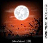 halloween background | Shutterstock .eps vector #306518813