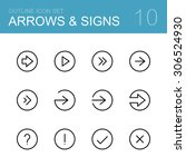 different arrows and signs  ... | Shutterstock .eps vector #306524930