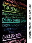 example of a typical menu drawn ... | Shutterstock . vector #306525230