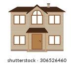 flat icon retro residential...   Shutterstock .eps vector #306526460