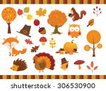 autumn set | Shutterstock .eps vector #306530900
