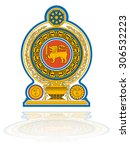 sri lanka coat of arms | Shutterstock .eps vector #306532223