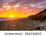 ile d'oleron france sunset  on... | Shutterstock . vector #306536810