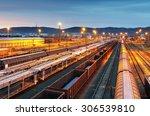 train freight   cargo railroad... | Shutterstock . vector #306539810