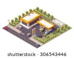 vector isometric icon or... | Shutterstock .eps vector #306543446