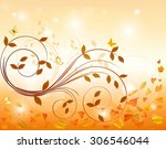 autumn background  | Shutterstock .eps vector #306546044